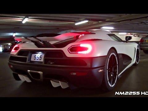 Koenigsegg Agera R INSANE SOUND in Close Parking Garage!!