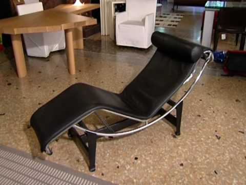 Le corbusier sofa lc2 lc3 chaise longue youtube for Catalogos de sofas chaise longue
