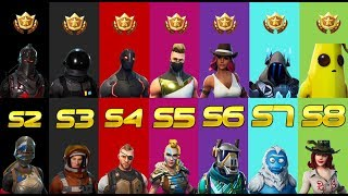 RANKING EVERY FORTNITE BATTLE PASS SKIN FROM WORST TO BEST (SEASON 2 - 8)