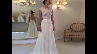 Обзор на платье с алиэкспресс.Кружевное платье из Китая.Wedding dress with AliExpress