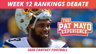 2020 Week 12 Rankings - Starts, Sits, Sleepers | 2020 Fantasy Football Rankings