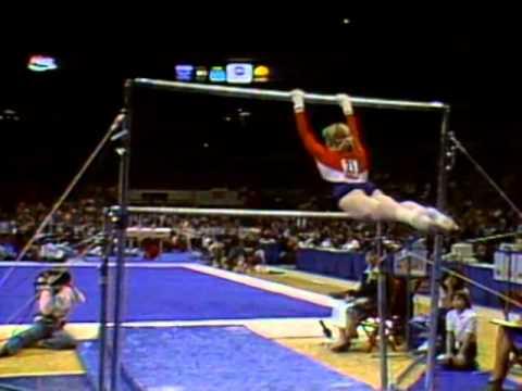 Julianne Mcnamara Uneven Bars 1984 Mcdonald 39 S American Cup Women Youtube