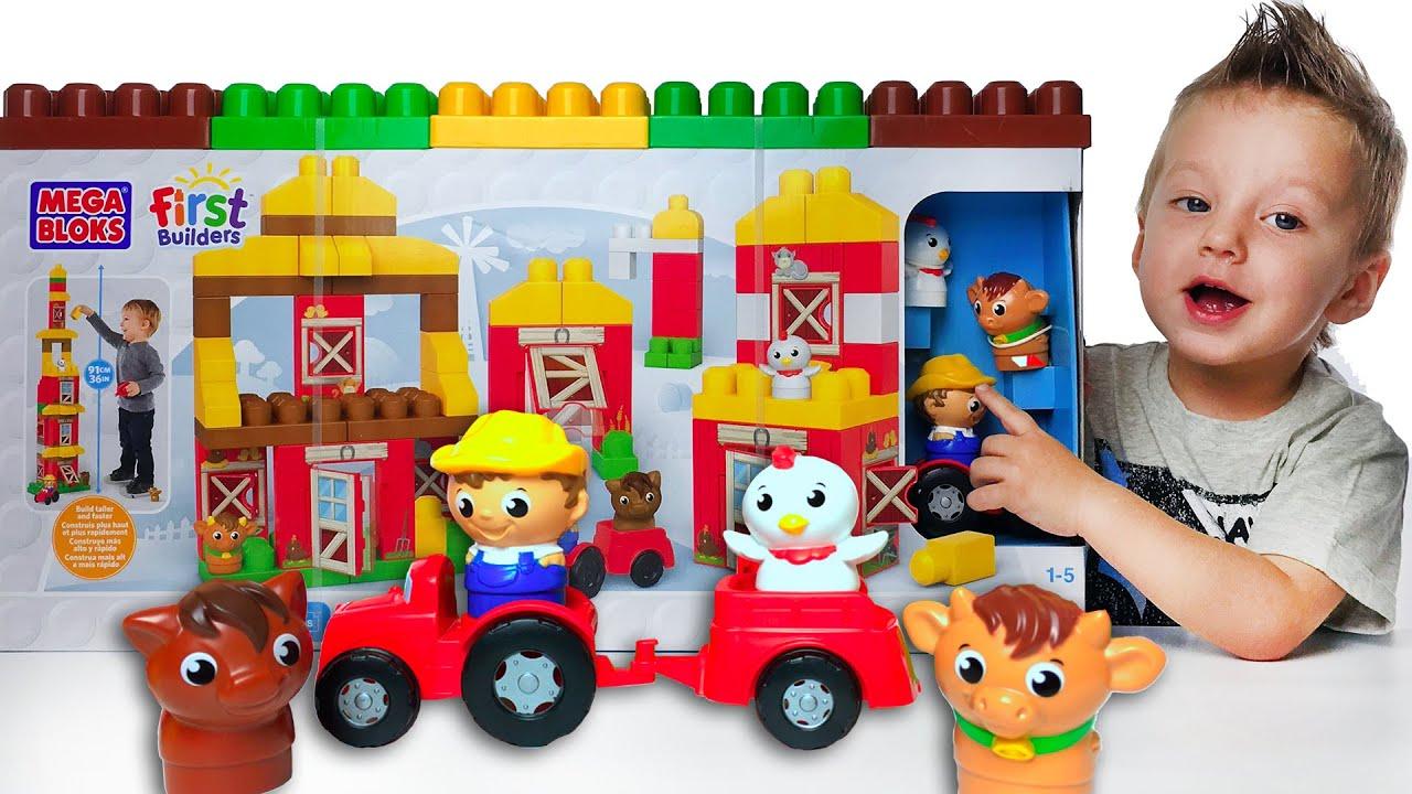 Конструктор МЕГА БЛОКС Игры Для Мальчиков Mega Bloks Unboxing and Play Развивающее Видео для Детей