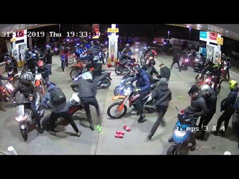 Motorbike gang raid