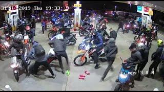 Motorbike gang raid petrol station prompting police appeal