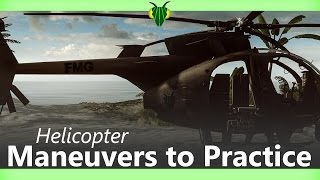 Battlefield 4 Helicopter Maneuvers To Practice On The Test Range   PS4 60fps   FEARLESSMANTISS