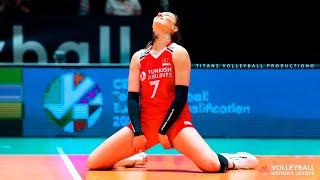 Hande Baladin - Powerful Volleyball SPIKES | Women's VNL 2021