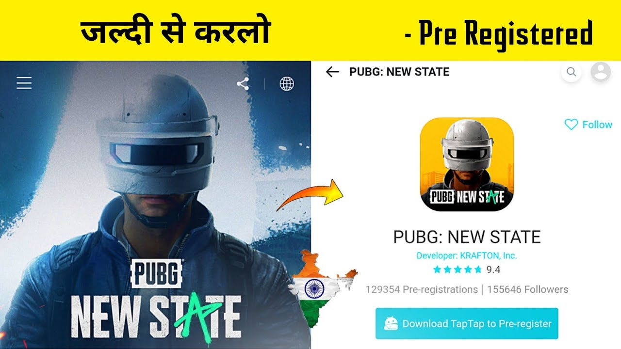 🇮🇳 PUBG Mobile New State Registered - How To Pre Register PUBGM 2 - Legend X