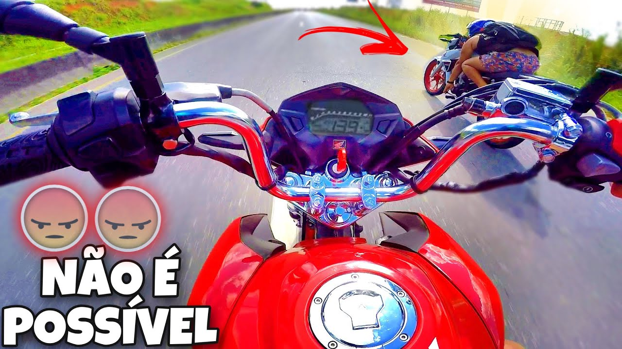 ESSA TITAN 160 ESTÁ POSSUÍDA! DESAFIEI COM A CG190 !!!!!! TOP SPEED...