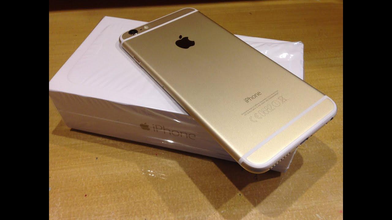Unboxing iPhone 6 Plus 128gb gold/dorado/oro ESPAOL - YouTube