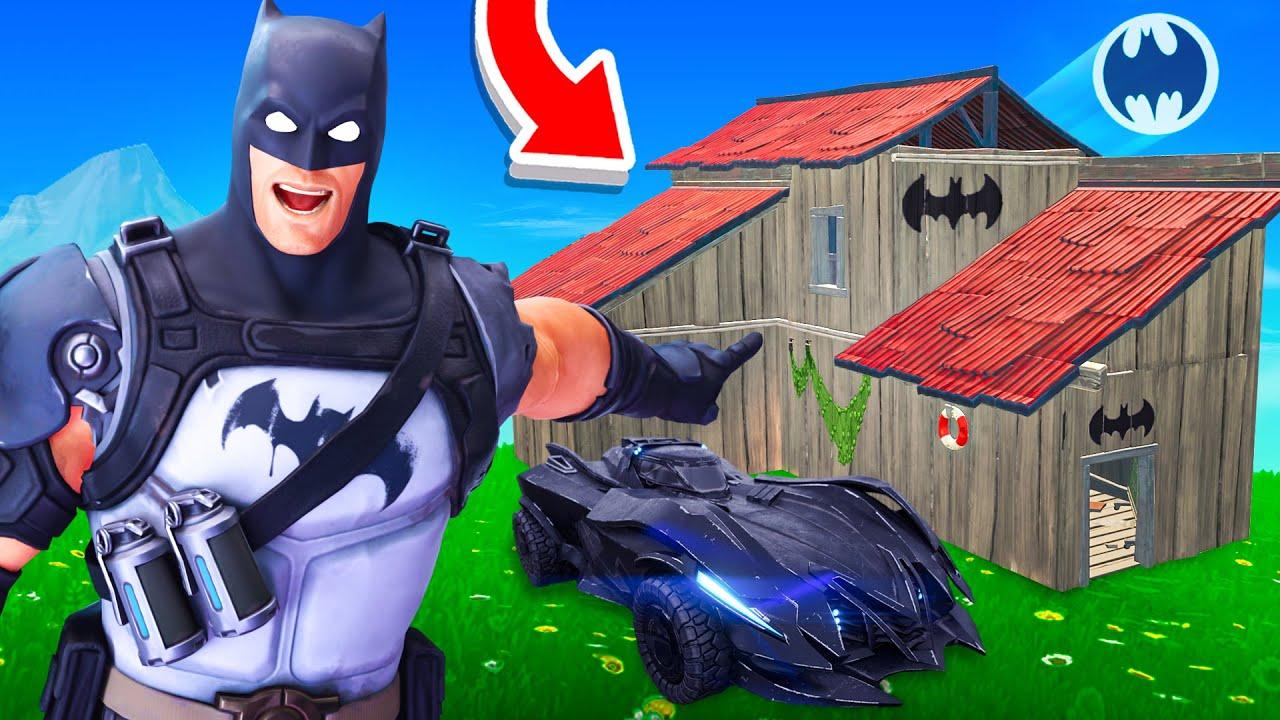J'ai TROUVÉ la BATCAVE SECRÈTE de BATMAN sur FORTNITE