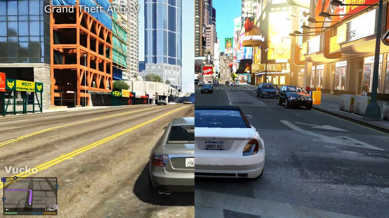 GTA V vs GTA IV [iCEnhancer 3.0 Graphic Mod] - YouTube
