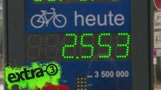 Fahrradzählstation in Hamburg