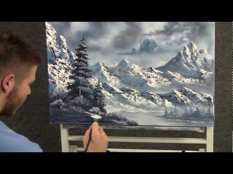 Paint with Kevin Hill - Large Snowy Mountains wet on wet HD