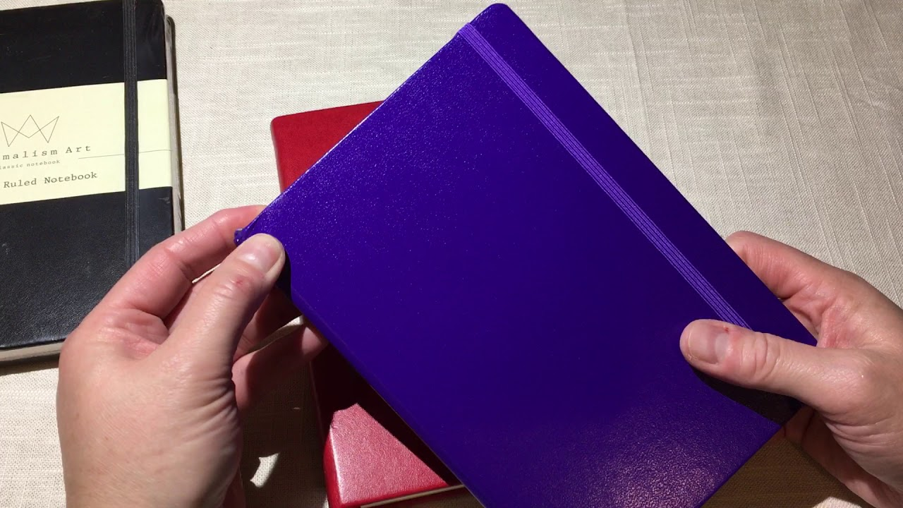 Minimalism art ruled notebook review youtube for Minimal art journal
