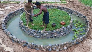 Build Stone Fish Pond