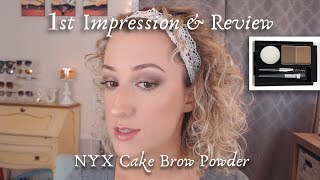 NYX Cake Eyebrow Powder Demo & Review! | First Impression w/ Check-In