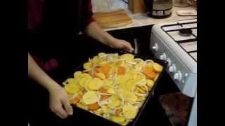 готовим дома.быстро,вкусно,дешево. овощи в духовом шкафу.