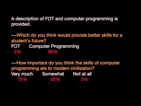 Leonardtown High School: FOT vs. Computer Programming