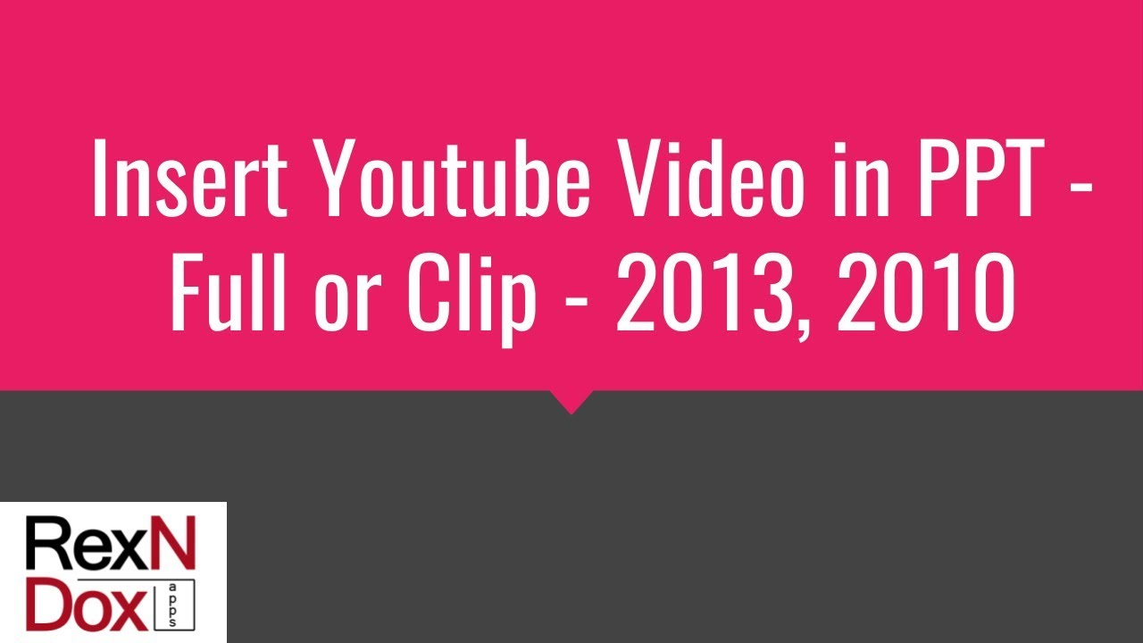 insert youtube video in ppt - full or clip - 2013, 2010 - youtube, Powerpoint templates