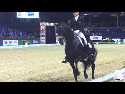 Edward Gal and Glocks Zonik @ freestyle dressage Jumping Amsterdam 2016