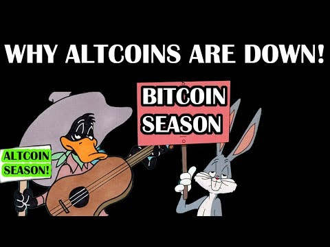 THE REAL REASON WHY ALTCOINS ARE DOWN! ALTCOIN NEWS + BITCOIN UPDATE