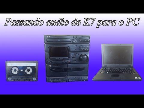 passando audio de k7 para o PC