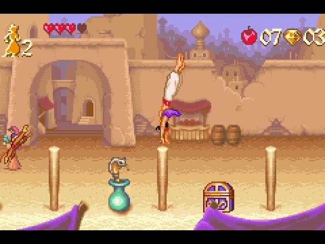 Jouez à Aladdin sur Nintendo Gameboy Advance grâce à nos bartops et consoles retrogaming