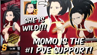 MOMO IS ABSOLUTELY WILD!! #1 TOP TIER PVE SUPPORT! - My Hero Academia: The Strongest Hero Gameplay