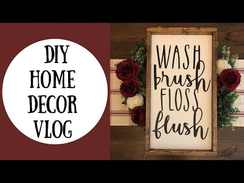 DIY HOME DECOR | FARMHOUSE SIGN | vlog