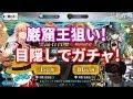 【FGO】巌窟王来てくれェ!サバ☆フェスPU2 30連を目隠しで引いてみた!