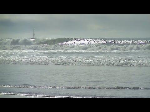 Oceanside Harbor Big Wave in Slow Motion