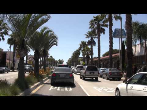 Wilshire Blvd from Rodeo Drive to the ocean in Santa Monica  HD  Be a passenger in my car