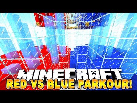 Minecraft – RED vs BLUE PARKOUR! (Preston VS Kenny Rage!) 2/2