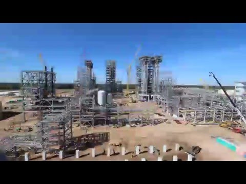 USGC Petrochemicals Project: Old Ocean Timelapse Video