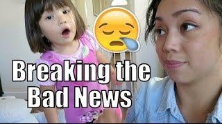 Breaking the Sad News to Julianna :( - September 21, 2015 -  ItsJudysLife Vlogs