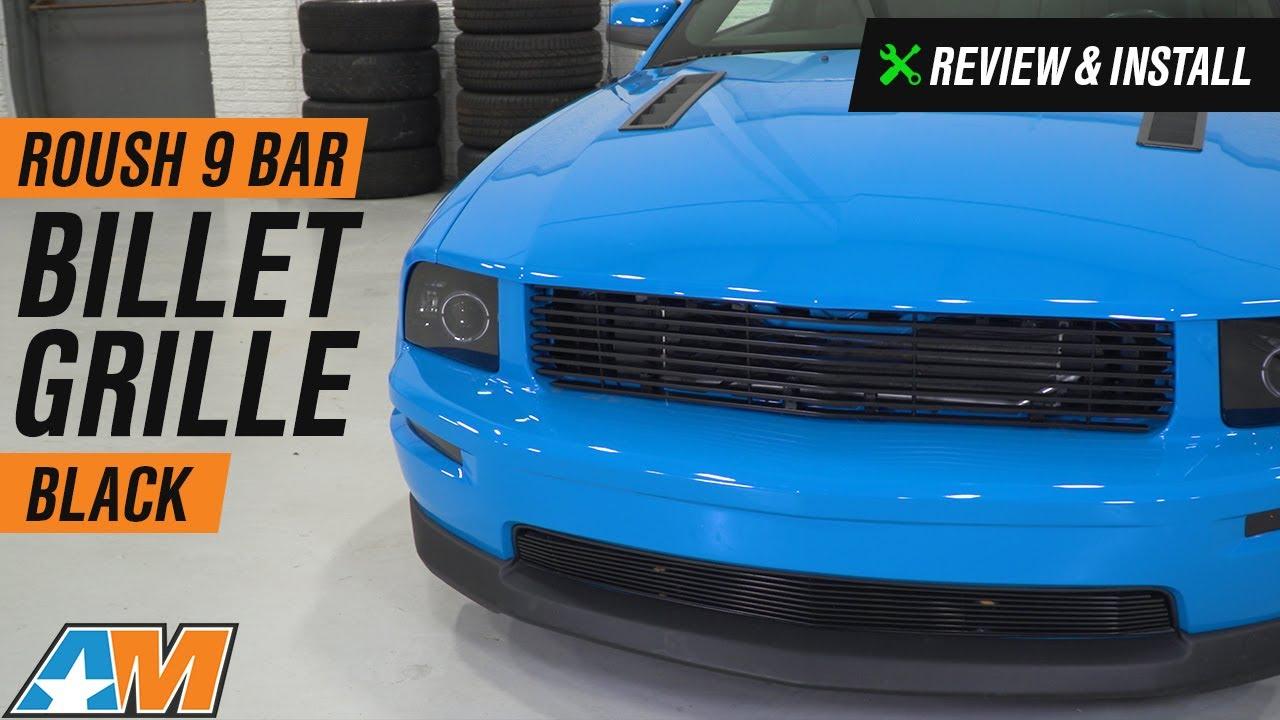 2005-2009 Mustang GT Roush 9 Bar Black Billet Grille Review & Install