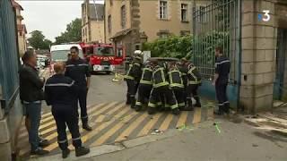 Rennes: accident entre une voiture et une ambulance des pompiers devant la caserne Saint-Georges