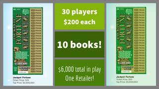 "YouTube's Largest Group Play! 10 Books ""Jackpot Fortune"" Scratchers $6000 Searching for $5 Million!"