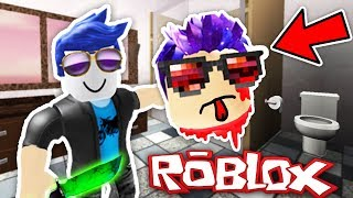 The KILLER KILLED ME in the BATHROOM! -Roblox