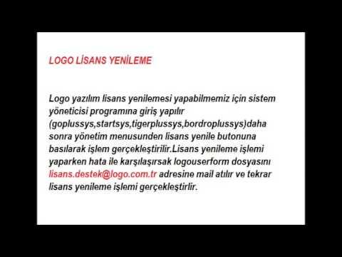 logo lisans yenileme hatası