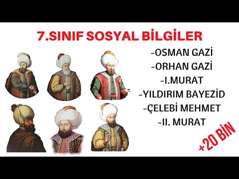 7.SINIF -  OSMANLI PADİŞAHLARI