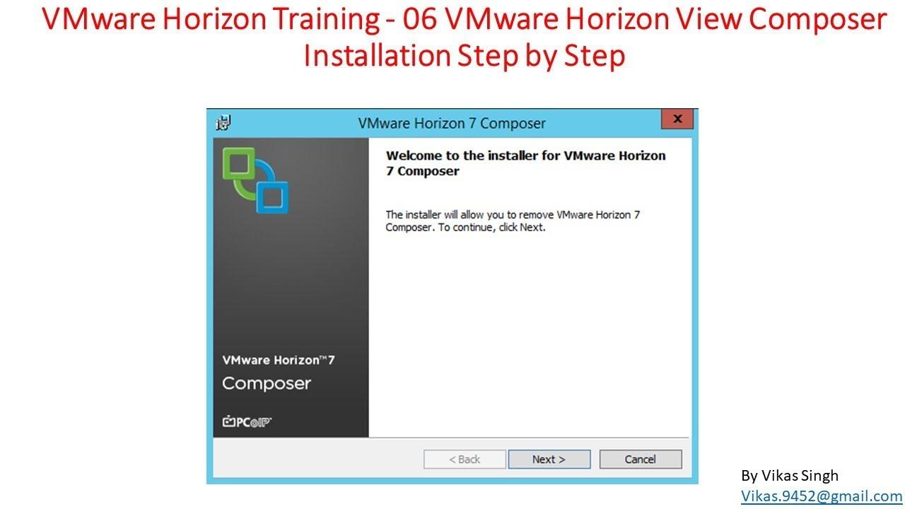 VMware Horizon Training | 06 - VMware Horizon View Composer Installation  Step by Step