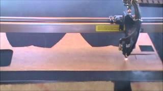 100W laser machine cutting 1/4