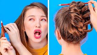 КРУТЫЕ ЛАЙФХАКИ С ПРИЧЕСКАМИ, ЧТОБЫ СПАСТИ ВАШ ДЕНЬ || Забавные проблемы с волосами от 123 GO! GOLD