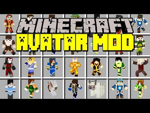 Minecraft AVATAR: LAST AIRBENDER MOD! | EARTH, WATER, FIRE, AIR BENDING! | Modded Mini-Game