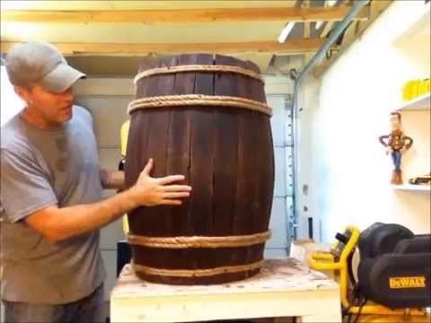 Diy Fake Wine Whiskey Barrel Youtube
