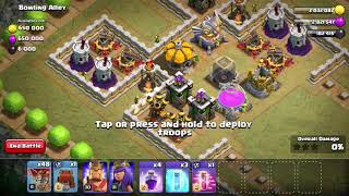 Clash of clans single player map- Bowling Alley