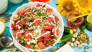 Recipe - Watermelon Feta Salad with Lime Yogurt Dressing
