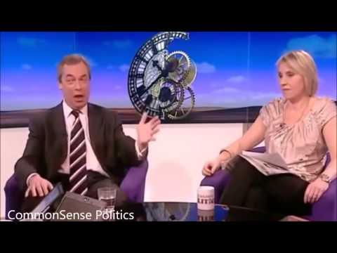 Nigel Farage teaches clueless feminist a life lesson